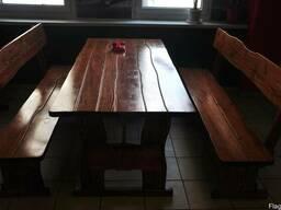Комплект садовой мебели из массива сосны 1,8х0,8м