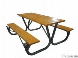 Комплект – садовый стол и лавочки для пикника