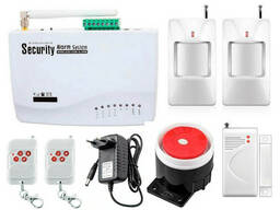 Комплект сигнализации GSM Alarm System G10 plus Белый. ..