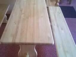 Комплект стол деревянный и лавки
