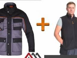 Комплект утеплённой спецодежды (Куртка Professiona OC Long Жилет флисовый)