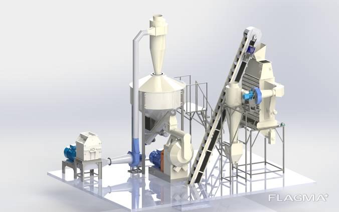Линия гранулирования отходов производств