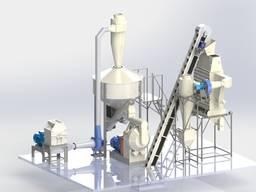 Комплектный завод по производству топливных пеллет с древеси