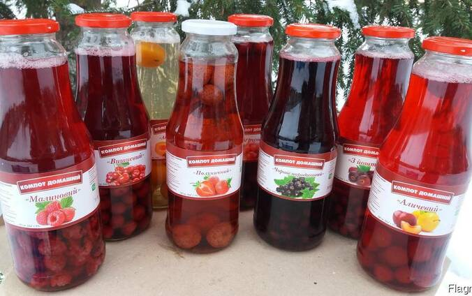 Компоты ягодные в ассортименте 1 л ТО