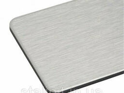 Композитные панели silver brushed s=3 mm