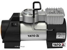 Компресор автомобільний YATO 12 В 180 Вт 40 л/хв 1 Mпа + шланг 1 м + насадки + мішок