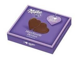 "Конфеты Milka Zartherb ""Сердце"" чёрн. шоколад 130г."