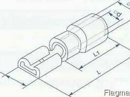 Коннектор плоский - мама 6. 3мм провод от 1. 5 до 2. 5 кв мм