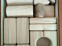 Конструктор деревянный (кубики)