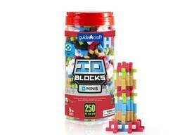 Конструктор Guidecraft IO Blocks Minis с дополненной 3d реальностью, 250 деталей (G9611)