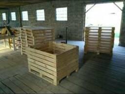 Контейнер деревянный, ящик деревянный