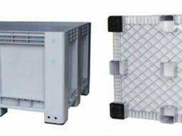Контейнер для складского хранения герметичный на 4 ножки 570 л (1000Х1200Х745)