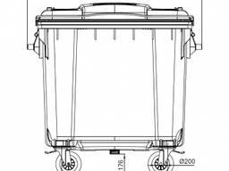 Контейнер мусорный Бак евростандарт 1100 литров