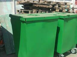 Контейнеры мусорные с крышкой + колеса 0,7 м.куб. (2мм)...