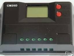 Контроллер заряда CM20D (20A 12/24В) с дисплеем