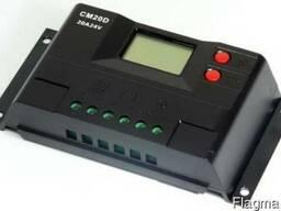 Контроллер заряда CM20D USB (10A 12/24В) с дисплеем