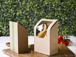 Конверт для тортиллы/врапа из крафт-картона (биопосуда)