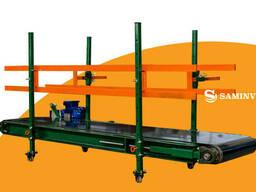 Конвейер для транспортировки и зашивки мешков