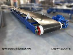 Конвейер ленточный, транспортер для сыпучих грузов желобчатого типа 4 метра