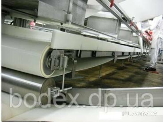 Конвейерная лента с покрытием из резины для шоковой заморозки пищевых продуктов