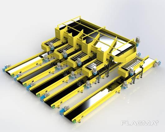 Система / Лінія стрічкових та роликових конвеєрів для сортування пошти та багажу