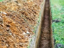 Копаем траншеи, земляные работы - копка земли вручную