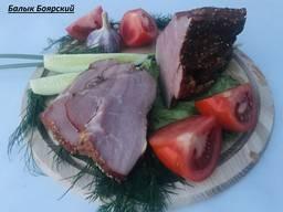 Копченые деликатесы (балык, щека, грудинка)