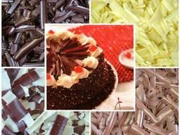 Кора шоколадная из бельгийского шоколада, шоколадный декор
