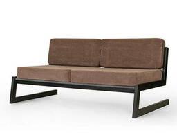 """Коричневый диван """"SOFT"""" в стиле LOFT из металла и ткани"""