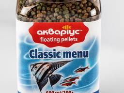 """Корм для рыб """"Classic Menu Floating Pellets"""" тм Аквариуc"""