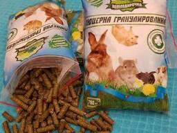 Корм из люцерны в гранулах для животных