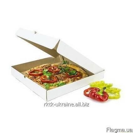 Коробк под пиццу № 350 (белая)
