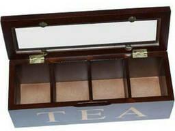 Коробка для хранения чая на 4 секции