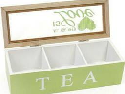 Коробка для хранения чая и сахара BonaDi на 3 секции
