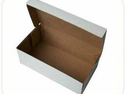 Коробка для обуви белая (340x220x125мм)