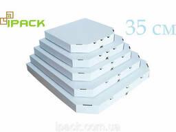 Коробка для пиццы 35 см белая 350*350*35 мм