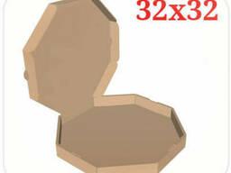 Коробка для пиццы коричневая 32х32