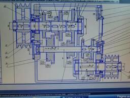 Коробка скоростей токарно-винторезного станка 1А616, задняя
