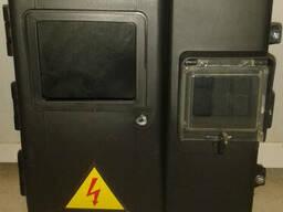 Коробка ящик щит для 1-ф счетчика со стеклом (3 модуля). ..