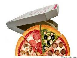 Коробки для пиццы с печатью логотипа