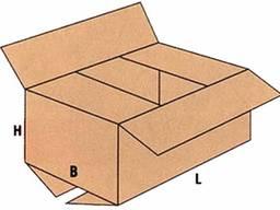 Коробки, ящики четырехклапанные