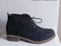 Ботинки из эко замши, очень удобны