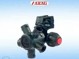 Корпус форсунки на трубу обприскувача Arag (5 розпилювачів)