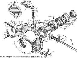 Рычаг включения в сборе 150.20.027-2 к тракторам Т-150К, ХТЗ