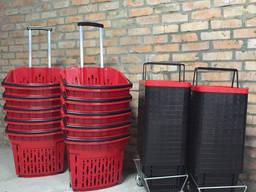 Продуктовые Покупательские корзинки на колесах 38 литров