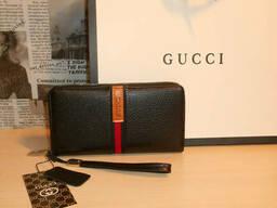 Кошелек клатч барсетка мужской Gucci, кожа, Италия