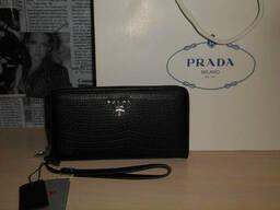 Кошелек клатч барсетка мужской Prada, кожа, Италия