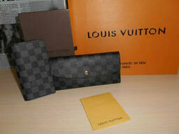 Кошелек женский+визитница Louis Vuitton, кожа, Франция