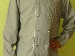 Китель повара бежевого цвета и брюки в наличие