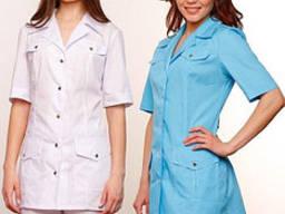 Костюм для салонов красоты, униформа куртка и брюки медицинские